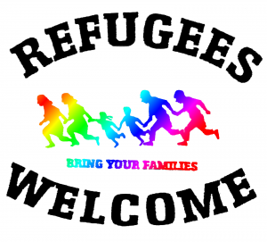 Refugees welcome (Motiv: Jennifer Michelle Rath)