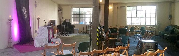 Foto vom Innenraum im Gemeindzentrum